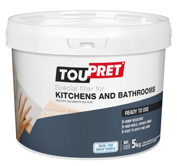 SPECIAL FILLER FOR KITCHENS AND BATHROOMS Toupret - Do i need special paint for bathroom