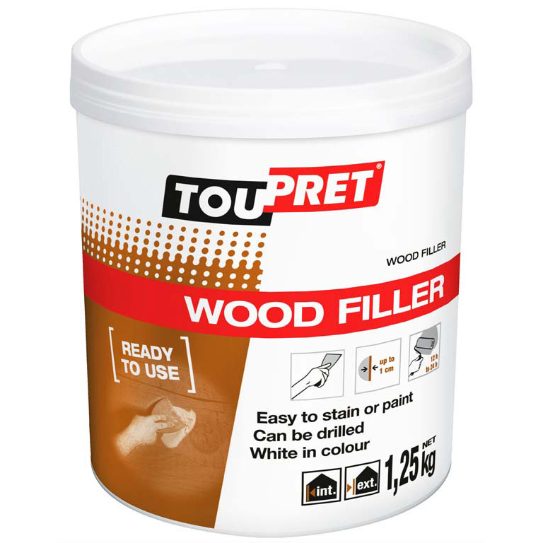 Wood fillers for building professionals toupret for Exterior wood filler paintable